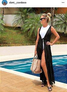 Saída de praia luxo Black