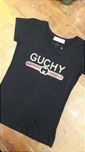 T shirt GUCHY em paetês
