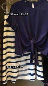 Blusa amarração marinho G