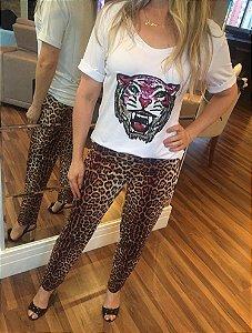 Blusa Tiger Manga Curta G + T shirt Plena G
