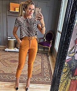 Blusa leopardo neoprene