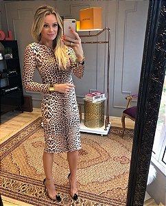 Vestido neoprene leopardo