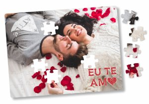 Quebra Cabeça Personalizado Dia Dos Namorados - 63 Peças