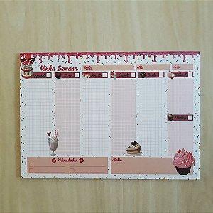 Planner De Mesa Semanal Permanente  A4 52fls (A Escolher)
