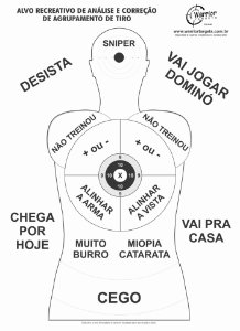 ALVO RECREATIVO ZUEIRA - CÓD A160 (Pacote c/ 100 Alvos)