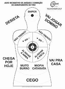 ALVO RECREATIVO ZUEIRA - CÓD A160 (Pacote c/ 50 Alvos)