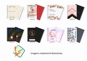 50 Mini Agendas Personalizadas 10x15 com logo para empresas e eventos