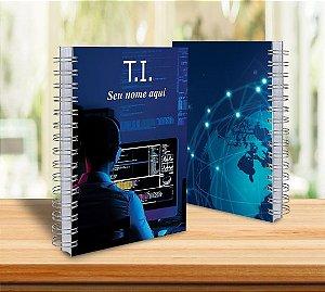Caderno Universitário 21x28 Profissões Personalizado 10 matérias
