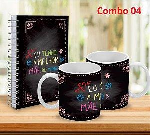 Caneca 325ml  + Caderno 15x21 (Diversos modelos)