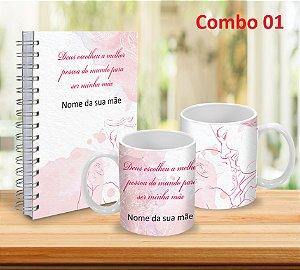 Caneca 325ml  + Caderno 15x21 (PERSONALIZADOS)