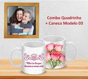 Caneca 325ml (Diversos modelos) + Quadrinho Decorativo PERSONALIZADO