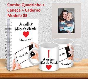 Caneca 325ml + Caderno 15x21  + Quadrinho Decorativo (PERSONALIZADOS)
