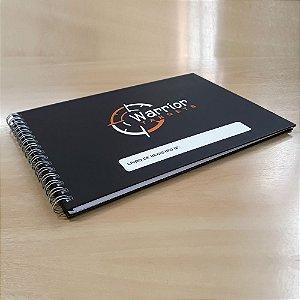 Livro de Registro de Tiro com Capa Personalizada com o Logo - 30,2 x 21,5