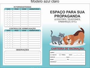 Carteirinha Vacinação/vermífugos Pet Personalizada C/100 Unid