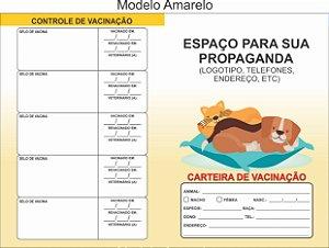 Carteirinha De Vacinação Pet Personalizada C/ 50 Unidades