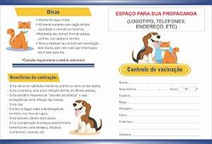 Carteirinha Vacinação/orientações Pet Personalizada 50 Unid