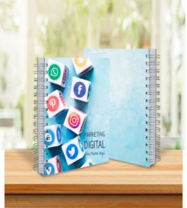 Caderno Profissões 15x21cm  Capa Personalizada - 200 Folhas