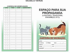 Carteirinha Vacinação E Vermifugação Pet Personalizada