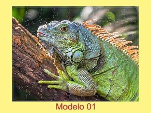 Quebra-Cabeça Mundo Animal 63 Peças (12 Modelos a sua escolha)