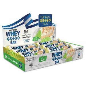 Whey Grego Bar - Display 12 Unidades - Nutrata