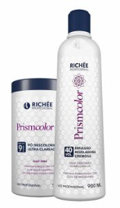 Richée Pó Descolorante e Água Oxigenada 40 vol PrismColor Kit