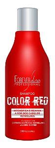 Shampoo Color Red Vermelho Intenso 300ml - Forever Liss