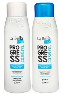 Progressiva Caseira La Bella Liss Shampoo e Gloss Kit 2X500ml