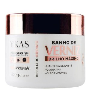 Máscara Banho de Verniz Ykas Brilho Máximo 500g