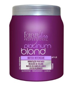 Forever Liss Platinum Blond Redutor de Volume e Matizador Intensive 1Kg