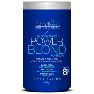 Forever Liss Power Blond Pó Descolorante Platinum Azul 450g