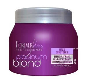 Forever Liss - Platinum Blond Máscara Matizadora Uva e Mirtilo 250g