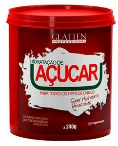 Glatten Professional Hidratação de Açúcar Máscara Capilar 240g