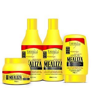 Forever Liss - Mealiza Kit Shampoo 300ml + Condicionador 300ml + Leave-In 140g + Máscara 250g
