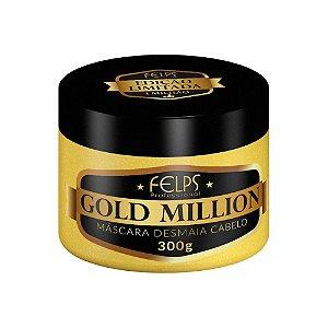 Felps Profissional Desmaia Cabelo Máscara Gold Million 300g