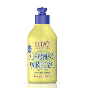 Cachos Shampoo In Brazil Low Poo Retrô Cosméticos 300ml