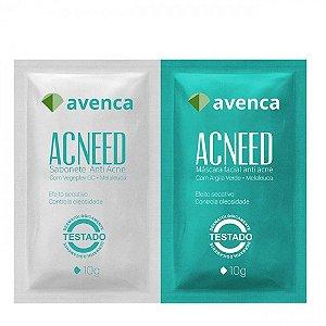 Tratamento Facial Avenca Cosméticos Acnned Anti-Acne 2X10g