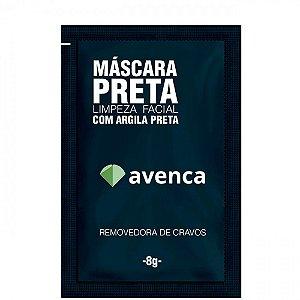 Máscara Removedora De Cravos Facial Avenca Com Argila Preta 8g