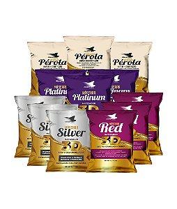 AliseHair Kit Sachês Platinum + Pérola + Silver + Red