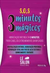 Máscara SOS Le Salon Pro 3 Minutos Mágicos Sachê 30g