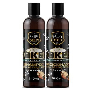 Shampoo e Condicionador Felps Men Kit Barba e Cabelo Poker 2x240ml