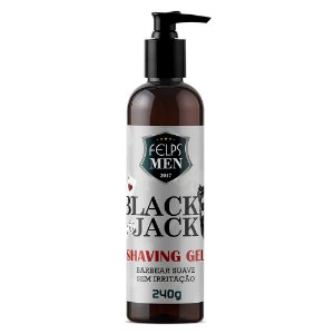 Gel para Barbear Felps Men Black Jack Shaving 240g