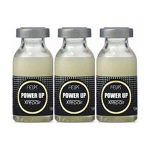 Ampola Power Up Felps Profissional Xrepair Complexo de Vitaminas 3x15ml