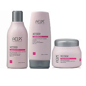 Kit Home Care Shampoo 300ml + Condicionador 200ml + Máscara 250g Xcolor