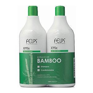 Kit Shampoo e Condicionador Extrato de Bamboo Felps Profissional Xmix 2x1000ml