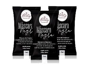 Máscara Negra Removedora de Cravos New Beauty Pro 7ml Kit (3unidades)