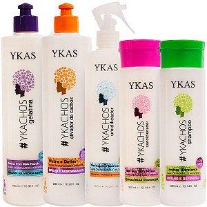 Ykachos Cachos Definidos Kit Ykas (5 Produtos)