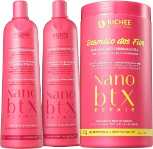 Nano Botox Repair Desmaio dos Fios Richée Professional Kit 3 Produtos