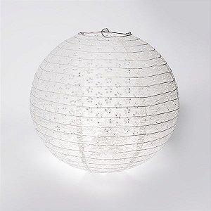 Luminária Japonesa Rendada Branca - 40 cm