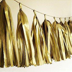 Varal de Franja Tassel Dourado - 15 peças