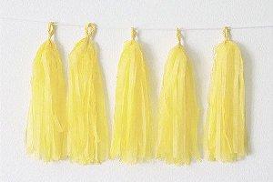 Varal de Franja Tassel Amarelo - 15 peças